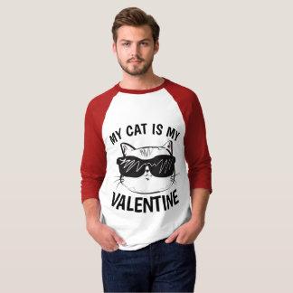 Camiseta DIA DE OS NAMORADOS, t-shirt engraçados do gato