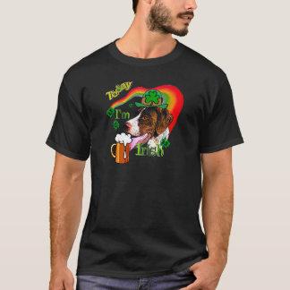 Camiseta Dia de São Patrício alemão do ponteiro de cabelos
