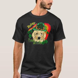 Camiseta Dia de São Patrício Goldendoodle