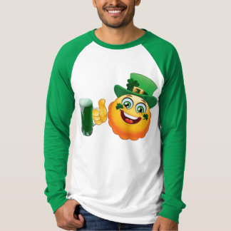 Camiseta Dia de São Patrício verde afortunado da cerveja do
