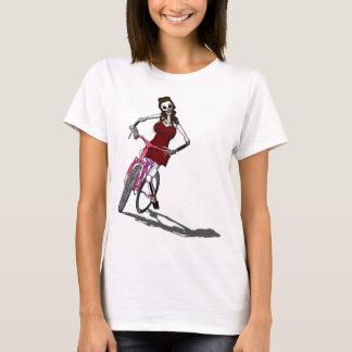 Camiseta Dia do chique inoperante da bicicleta