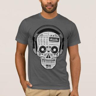 Camiseta Dia do crânio inoperante do açúcar com plataformas