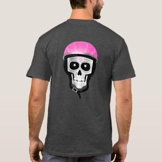 Camiseta Dia do crânio inoperante no capacete da bicicleta