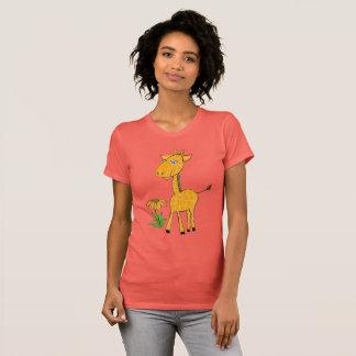 Camiseta dia do divertimento do girafa