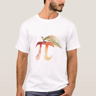 Camiseta Dia do Pi, torta de Apple do símbolo. Humor da