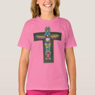 Camiseta Dia do Totem do monograma do nativo americano da