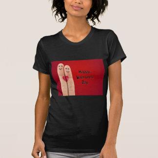 Camiseta Dia dos namorados feliz dos dedos