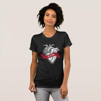 Camiseta Dia dos namorados gótico do coração