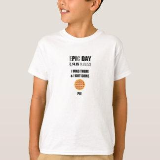 Camiseta Dia engraçado do Pi da epopeia eu estava lá & eu