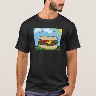 Camiseta Dia feliz do hamburguer