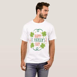 Camiseta Dia feliz verde e alaranjado das pancadinhas do