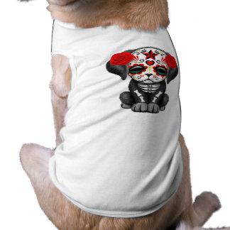 Camiseta Dia vermelho do cão de filhote de cachorro