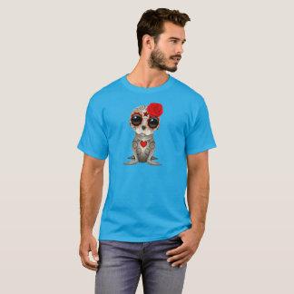 Camiseta Dia vermelho do leão de mar inoperante do bebê