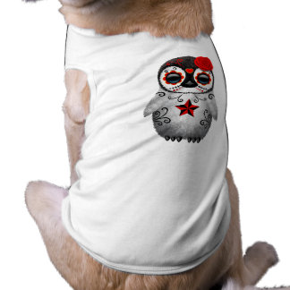 Camiseta Dia vermelho do pinguim inoperante do bebê