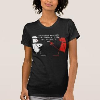 Camiseta diabo/anjo
