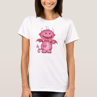 Camiseta diabo bonito da menina
