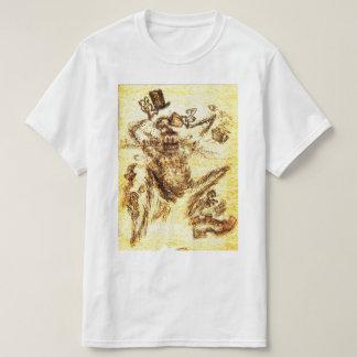 Camiseta Diabo para a arte original da cafeína por E J