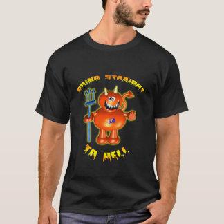 Camiseta Diabo pequeno com o hetero indo ao inferno