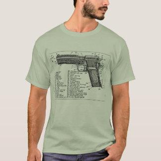 Camiseta Diagrama da arma