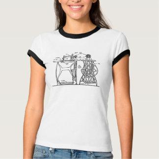 Camiseta Diagrama da máquina de costura