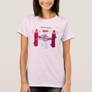 Camiseta Diagrama das veias de capilares das artérias dos