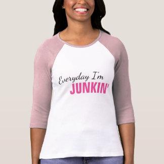 Camiseta Diário eu sou o t-shirt das mulheres de Junkin