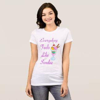 Camiseta Diário sente como o Sundae