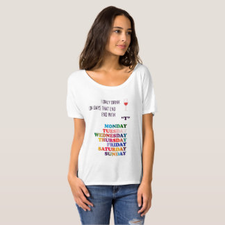 Camiseta Dias da semana