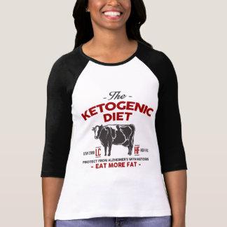 Camiseta DIETA KETOGENIC: Coma o auxílio Alzheimer do Keto,