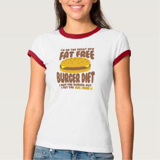 Camiseta Dieta livre de gordura do hamburguer
