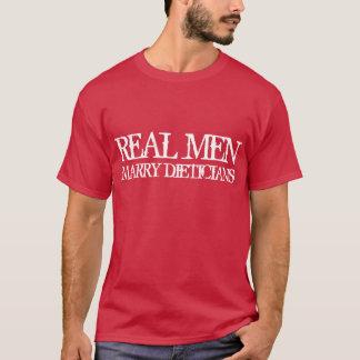 Camiseta Dietistas reais do casado dos homens