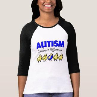 Camiseta Diferenças do abraço da consciência do autismo