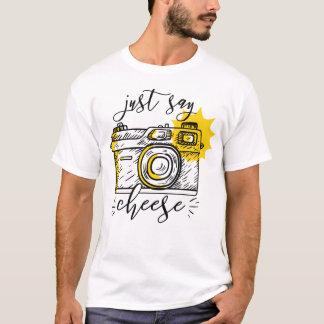 """Camiseta """"Diga fotografia retro do fotógrafo da câmera do"""