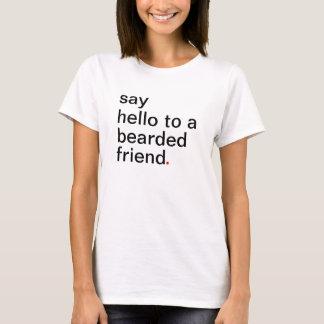 Camiseta diga olá! a um amigo farpado