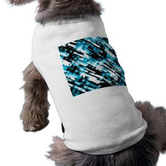 Camiseta Digitalart G253 do abstrato do preto azul da roupa
