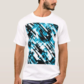 Camiseta Digitalart quente G253 do abstrato do preto azul