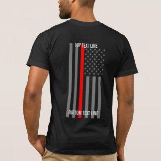 Camiseta Dilua a linha vermelha gráfico da bandeira