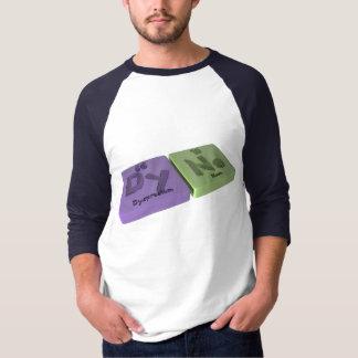 Camiseta Dina como o Dysprosium do Dy e o néon do Ne