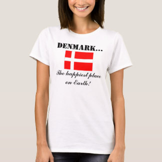 Camiseta Dinamarca, o lugar o mais feliz na terra
