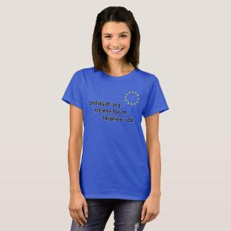 Camiseta Dinamarquês: Undskyld! Stemte de Jeg para na UE