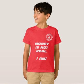 """Camiseta Dinheiro dos miúdos o """"não é real! """""""