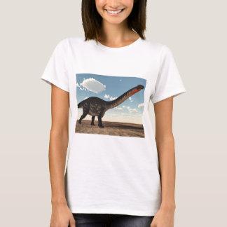 Camiseta Dinossauro do Apatosaurus no deserto - 3D rendem