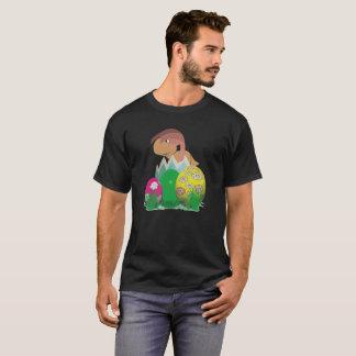 Camiseta Dinossauro do bebê no T engraçado de Pascha do ovo