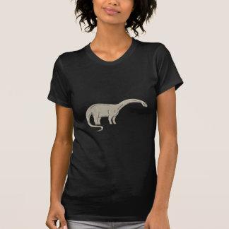 Camiseta Dinossauro do Brontosaurus que olha abaixo da mono
