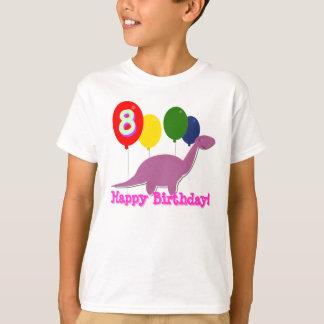 Camiseta Dinossauro do feliz aniversario 8 anos de t-shirt