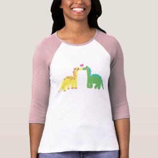 Camiseta Dinossauro e um GIRAFA