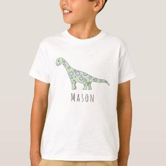 Camiseta Dinossauro legal do Doodle do menino personalizado