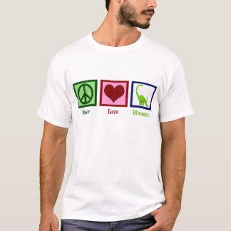 Camiseta Dinossauros do amor da paz