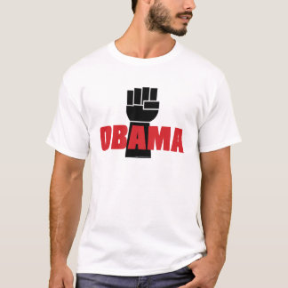 Camiseta Direito de Obama sobre! T-shirt preto do punho