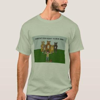 Camiseta Direito para carregar o T dos braços